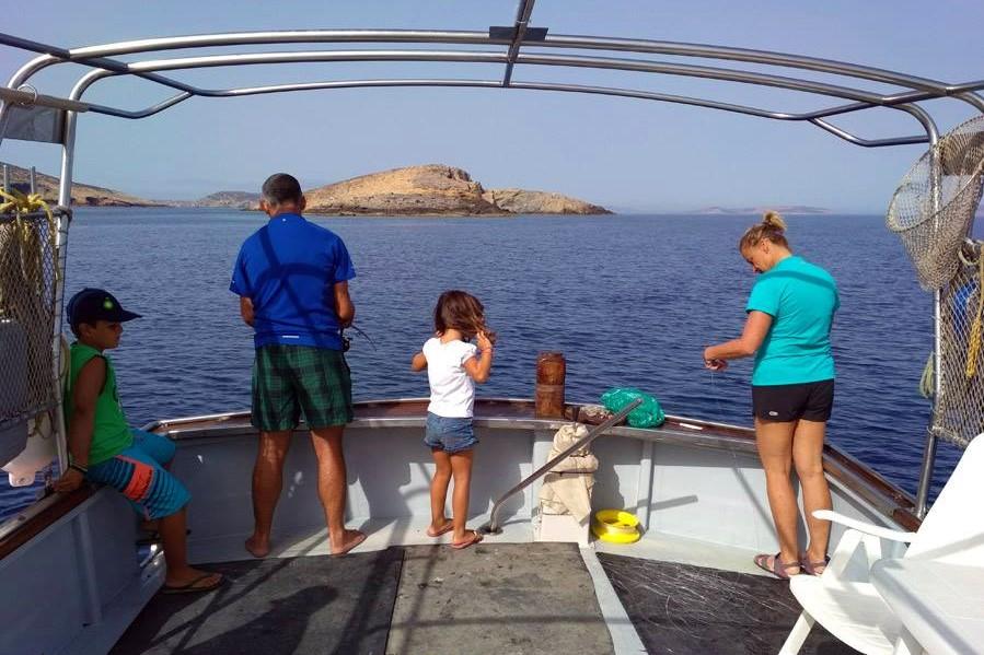 fishing kids amorgos