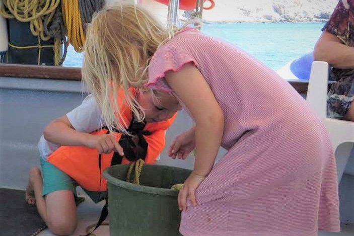 fishing kids amorgos