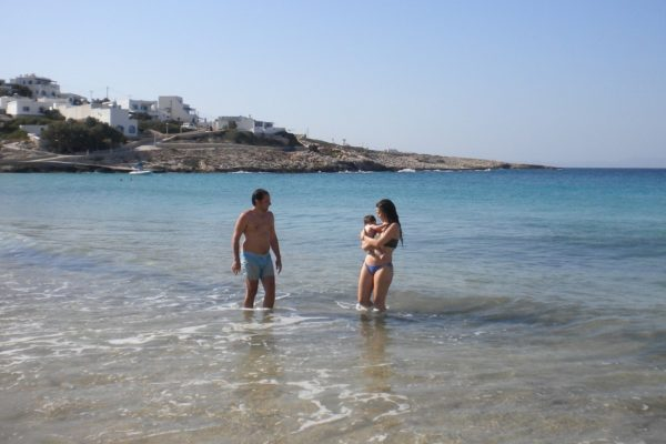cyclades family beaches babies