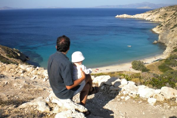 small cyclades with babies beaches