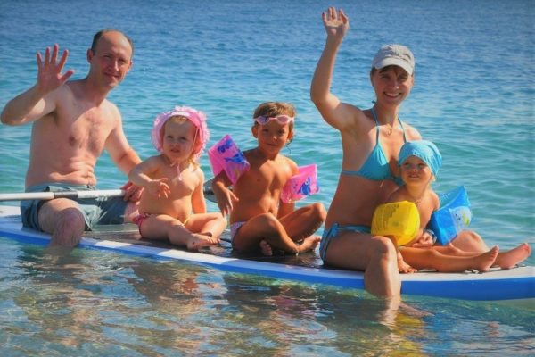 beach vacation babies Greece