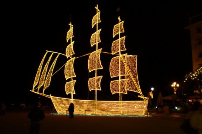 greece christmas boat