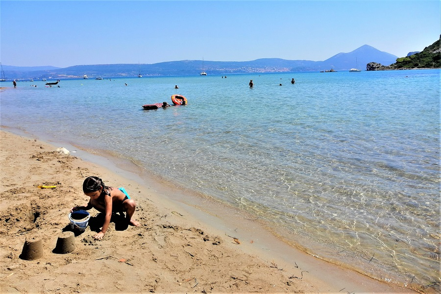 kids beach pylos navarino
