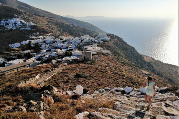 sikinos kids greek islands stairs
