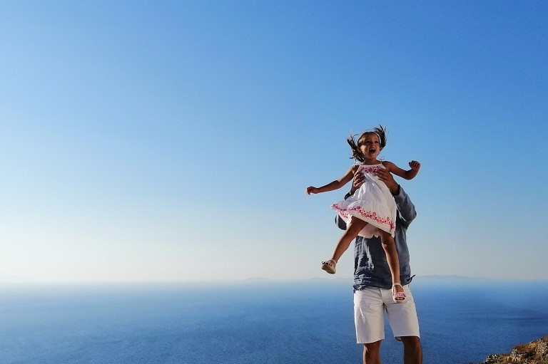 island hopping with kids greece