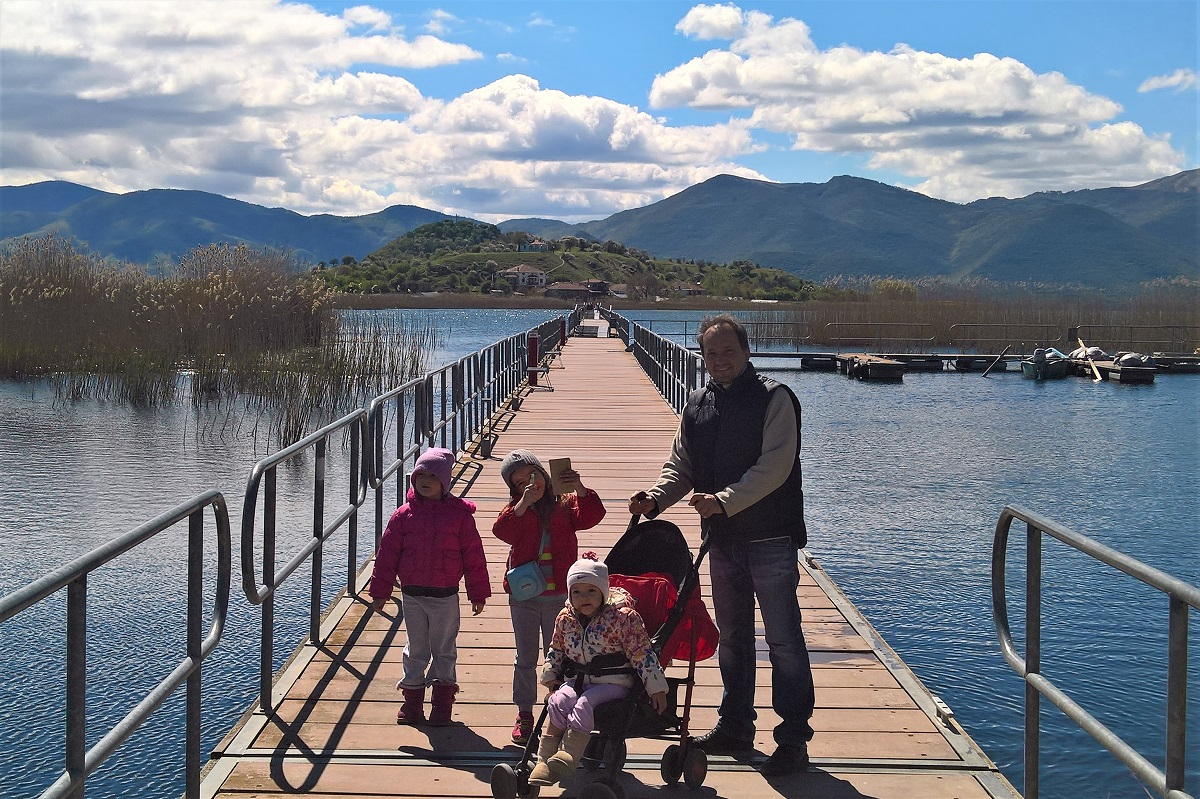 small lake prespa children family greece