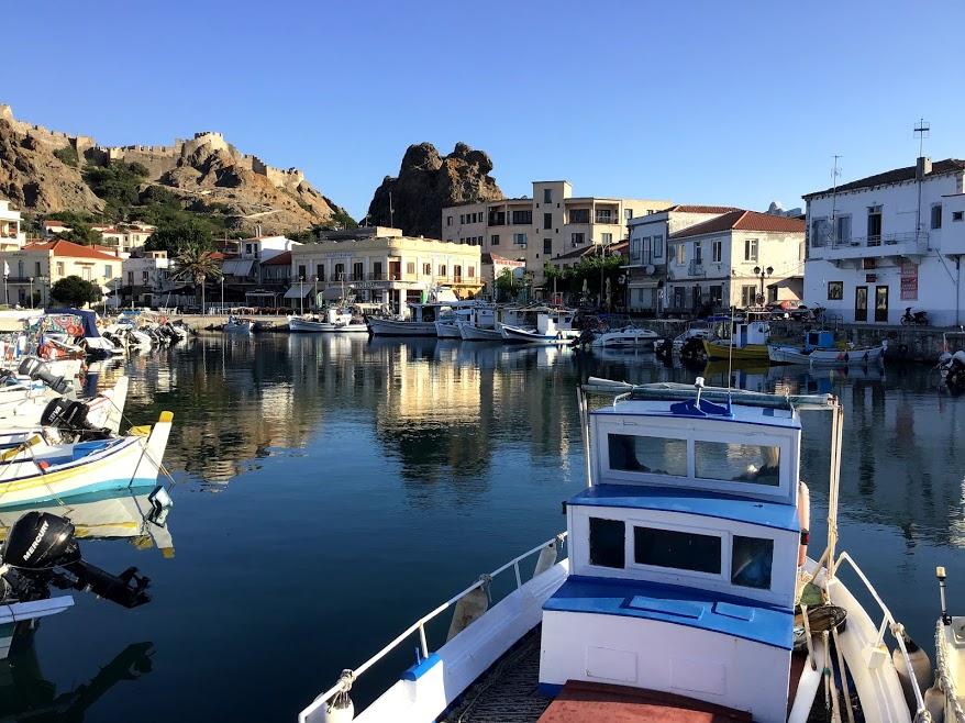 myrina port lemnos island greece