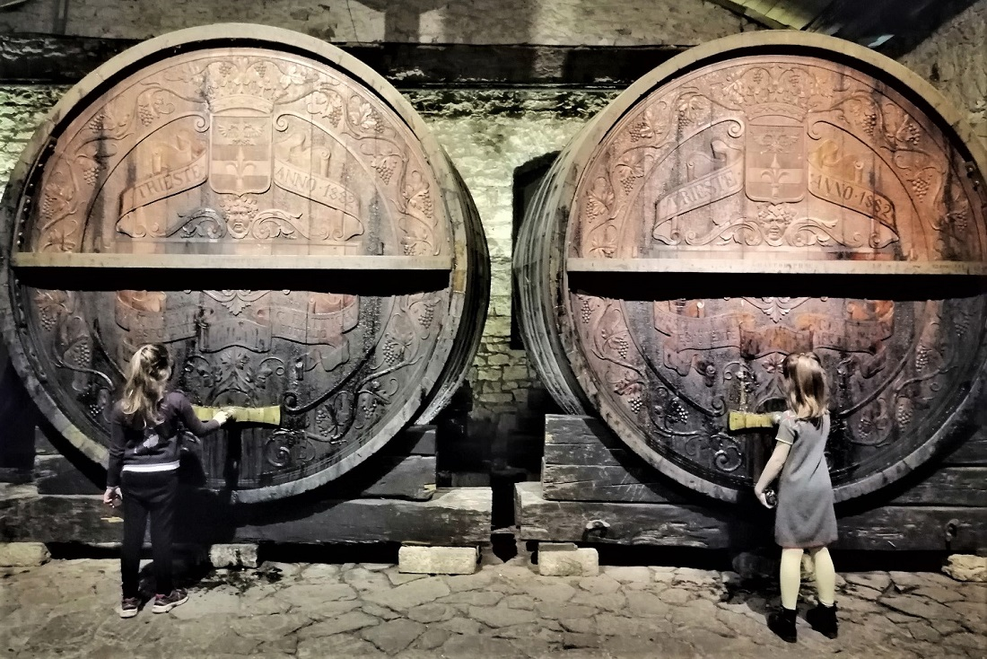 barrels wine kids greece