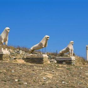 delos lions visitgreece