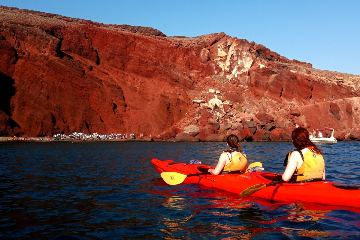 santorini kids sea kayak