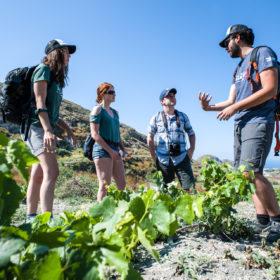santorini hiking with kids