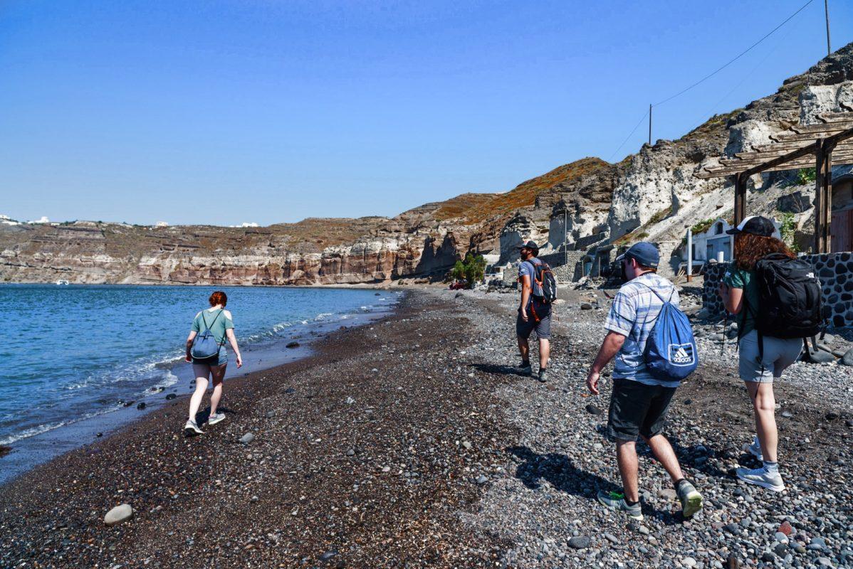 hiking beaches santorini