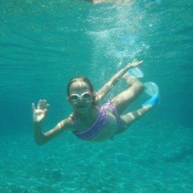 snorkeling sea cruise Cyclades kids
