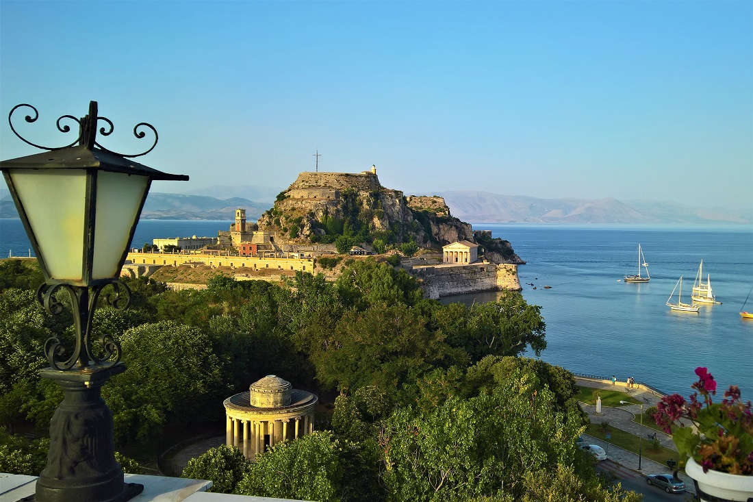 corfu town view