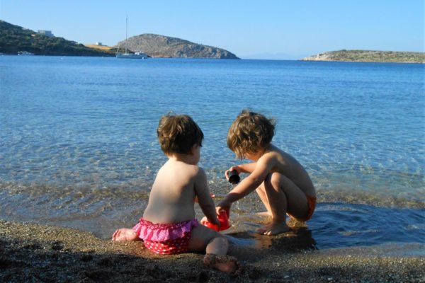blefouti beach babies toddler summer leros