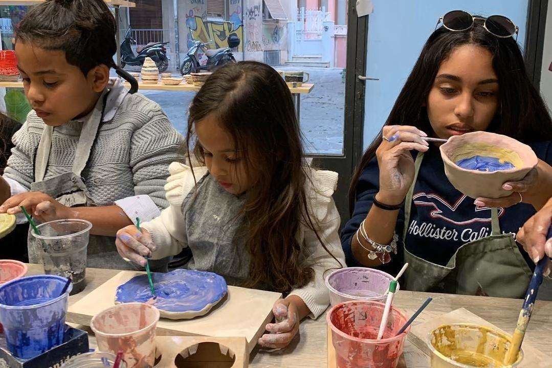 pottery with kids athens plaka