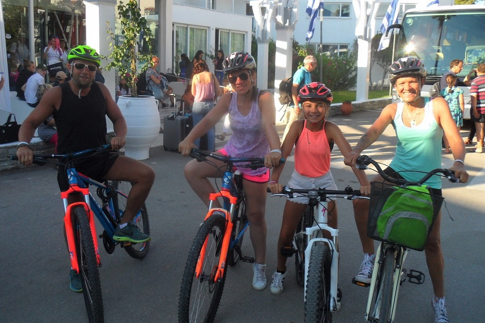 cycling eretria family evia