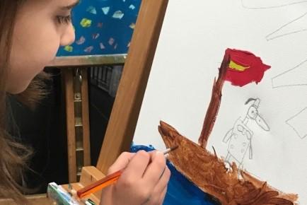 painting kids nafplio fougaro