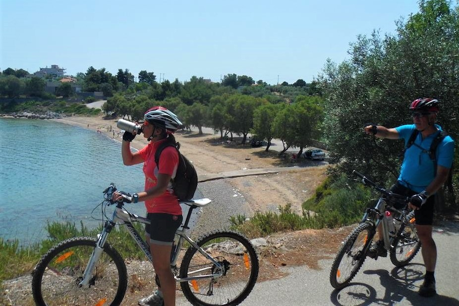 halkida beaches cycling evia