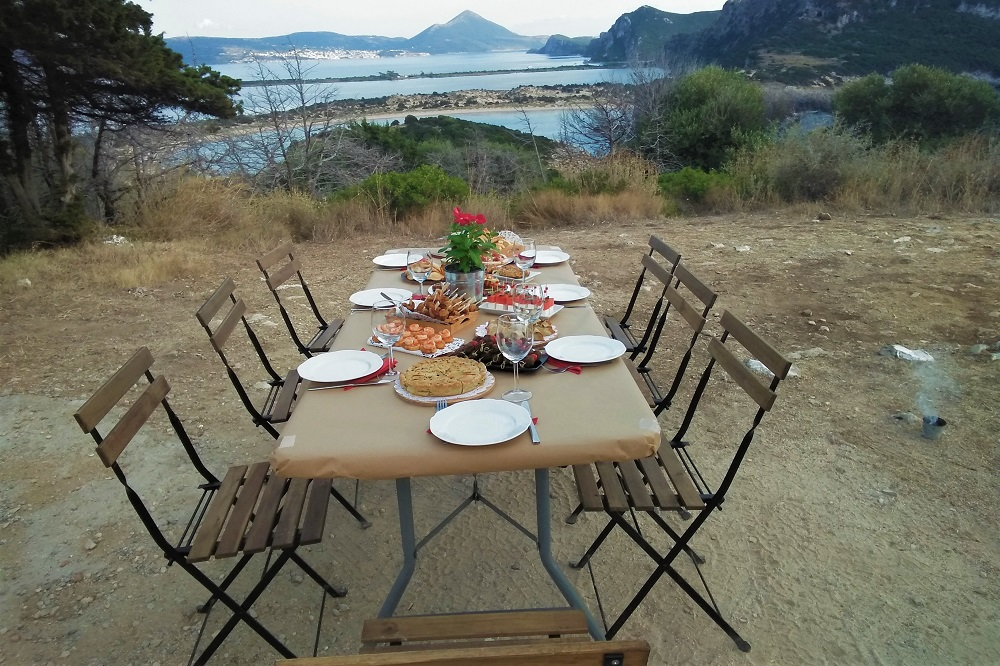 gastronomy pic nic messinia food view