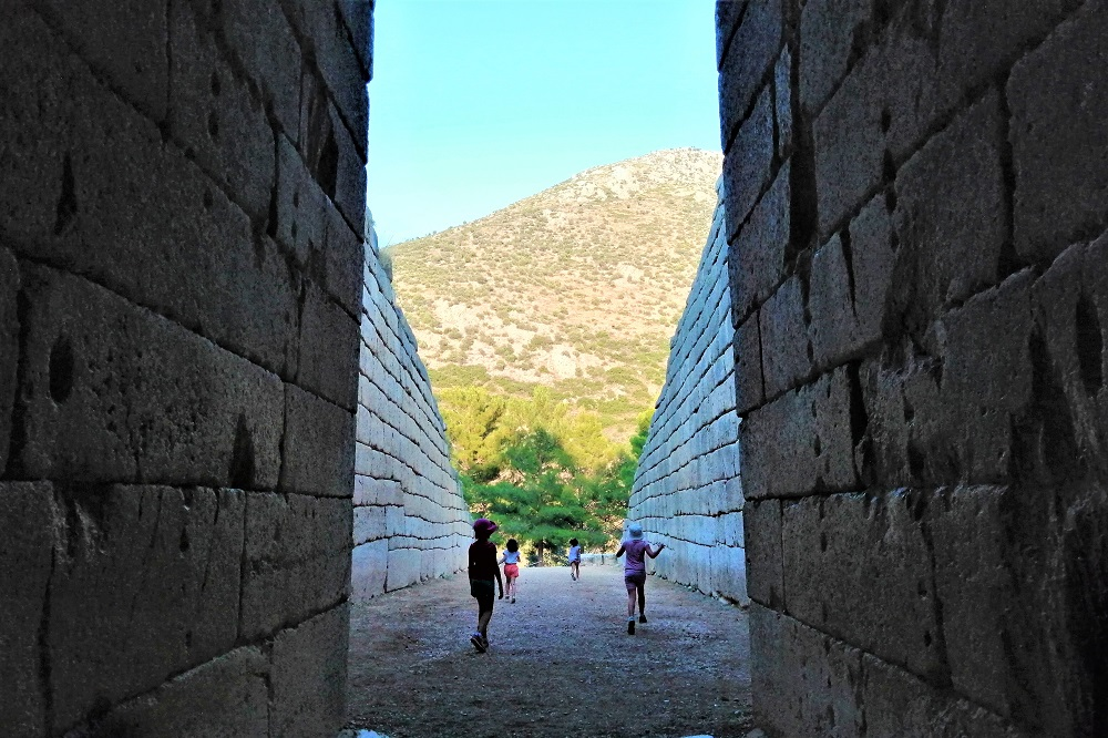 mycenae with kids