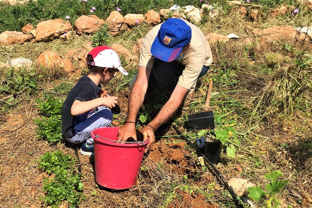 paros farming with kids