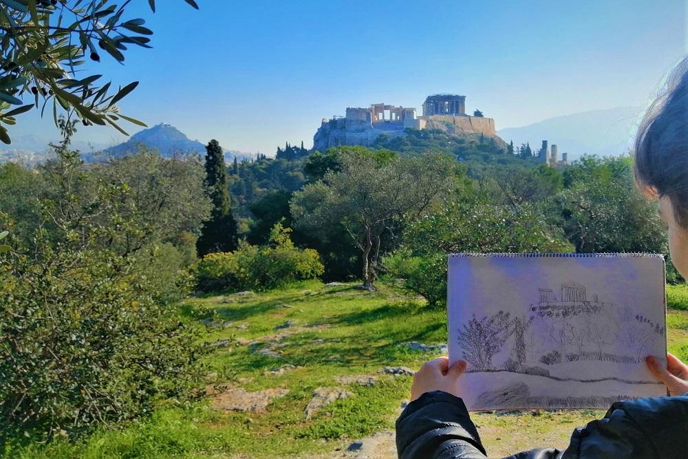 pnyx hill acropolis parthenon