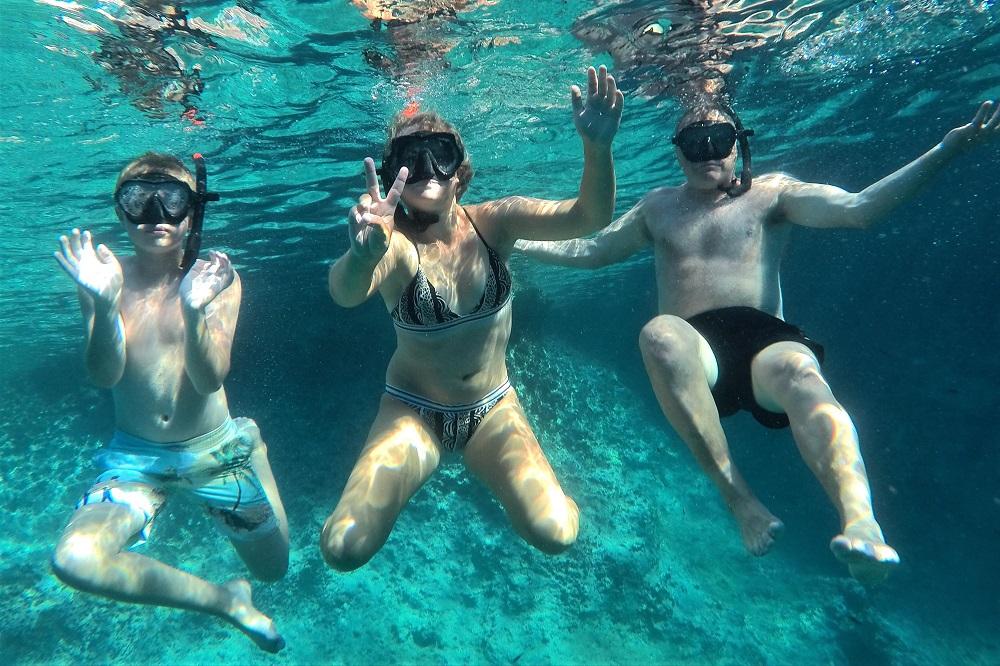 snorkeling crete family